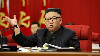 North Korea's Kim says food situation 'tense' due to pandemic, typhoons