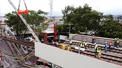 Leaked probe finds six 'deficiencies' linked to Mexico metro crash, says newspaper