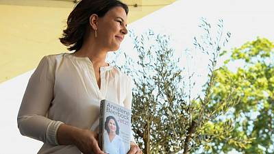 Under pressure, German Greens leader hits 'restart' with new book