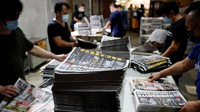 """U.N. decries """"further chilling message"""" for Hong Kong media freedom"""
