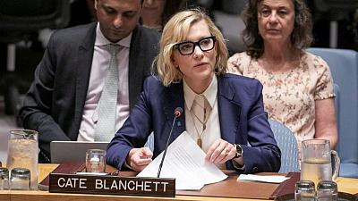 Actor Blanchett sees pandemic as chance for reflection on plight of refugees