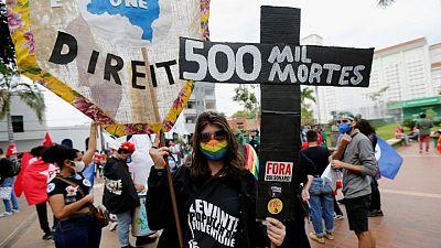 Brazilians protest President Bolsonaro's response to the pandemic