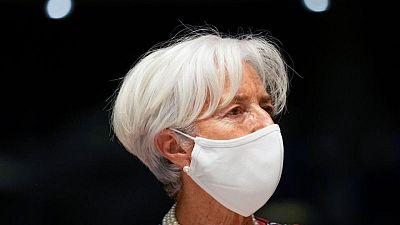 Euro zone recovery still fragile, ECB's Lagarde says