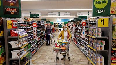 British grocery sales dip as indoor hospitality reopens