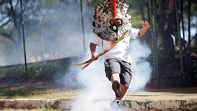 Police tear gas indigenous protest for land rights in Brazil