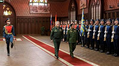 Russia says to boost military ties with Myanmar as junta leader visits