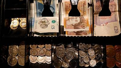 Sterling hits 2-1/2 month high against euro, investors eye PMI