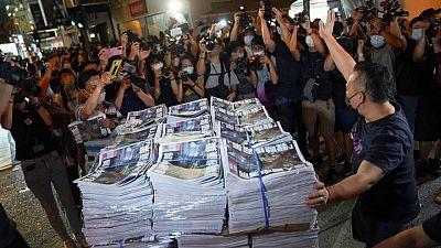 Taiwan condemns closure of Hong Kong's Apple Daily