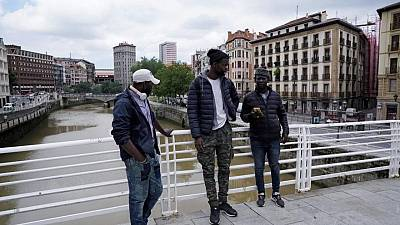 Senegalese migrant dives into Spanish river to save man