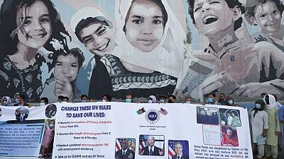 Former interpreters protest in Kabul to demand US visas ahead of pullout