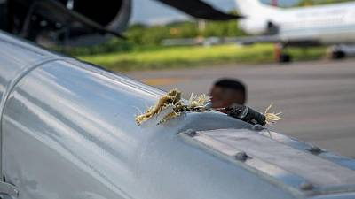Helicopter carrying Colombia's President Duque struck by bullets in attack