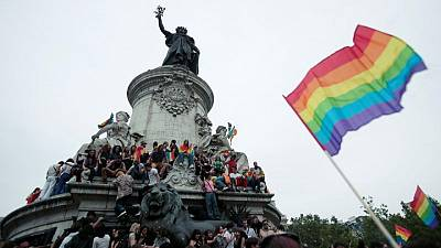 Thousands march in Paris' first LGBT pride since lockdown