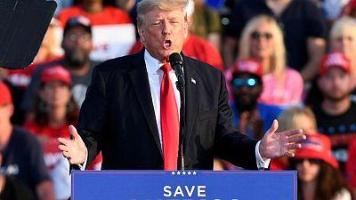 ترامب يهاجم بايدن بشأن سياسات الهجرة خلال تجمع حاشد في ولاية أوهايو