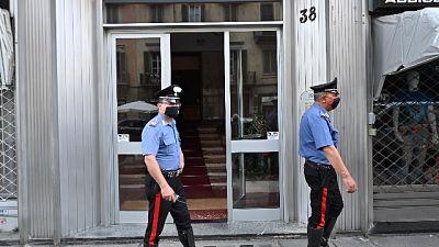 In un edificio del centro, indagano i carabinieri