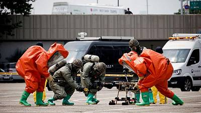 South Korea holds drill in Seoul to prepare for drone attacks