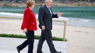 Merkel, Johnson to discuss COVID-19 travel limits