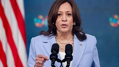 Gender equality makes democracy stronger, says Kamala Harris