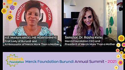 Merck Foundation CEO et La Première Dame du Burundi ont coprésidé la conférence annuelle de 2021 pour continuer à renforcer les capacités de santé, briser la stigmatisation liée à l'infertilité et soutenir l'éducation des filles
