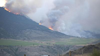 Forest fire guts small western Canada town after days of record-breaking heat
