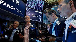 As bond prices rally, U.S. stocks follow global shares lower