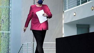 British PM Johnson welcomes Germany's Merkel for swansong UK trip