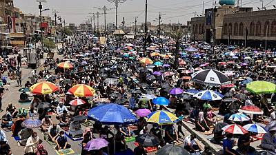 Iraqis protest over power, water cuts amid heat wave