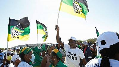 S.Africa's Zuma marches with supporters opposed to his jailing