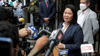 Peru's government rejects Fujimori call for international audit for June 6 poll