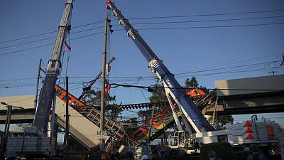 Mexico City boosts funds for families of train collapse victims