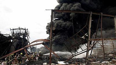 انفجار وحريق هائل في مصنع بتايلاند وإجلاء سكان المنطقة المحيطة
