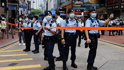 Hong Kong police arrest nine suspected of terrorist activities