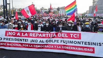 'Peru wants a president': Thousands march in Lima as election result drags