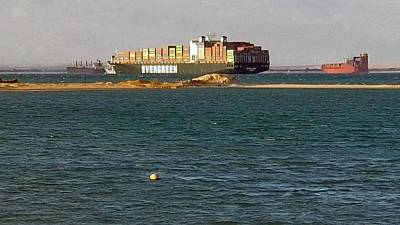 سفينة الحاويات إيفر جيفن تغادر قناة السويس الأربعاء