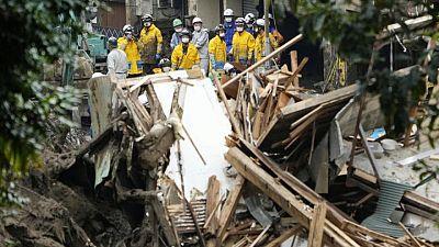 Rescuers search for 27 missing after Japan landslides