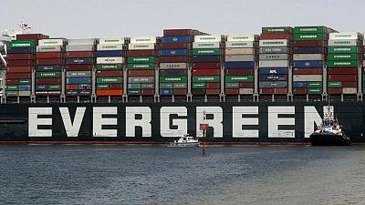 الشركة المالكة للسفينة إيفر جيفن: السفينة ستخضع لفحص تحت الماء بميناء بورسعيد