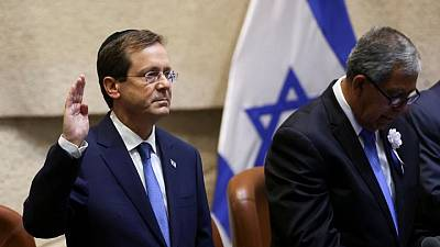 Former Labour chief Herzog sworn in as Israel's president