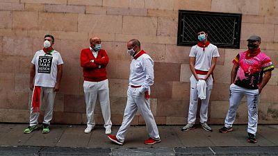 """Calles """"vacías"""" durante otro San Fermín sin encierros"""