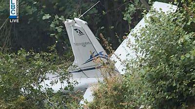 تحطم طائرة تدريب في لبنان ومخاوف من مقتل ثلاثة كانوا على متنها