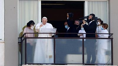 Pope appears in public for first time since surgery