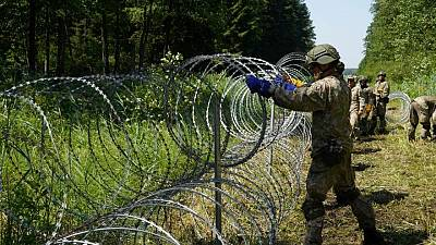 """U.S. """"concerned"""" by flow of migrants from Belarus to Lithuania"""