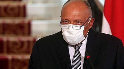 تغريدة: وزير الخارجية المصري يلتقي بنظيره الإسرائيلي في بروكسل