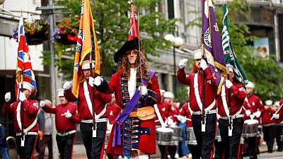 N.Ireland's Orange Order hold July 12 parades with Brexit tensions high