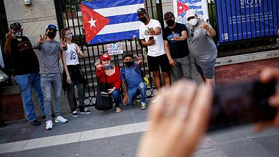 U.S warns Cubans away from sea crossings amid protests, but most cross on land