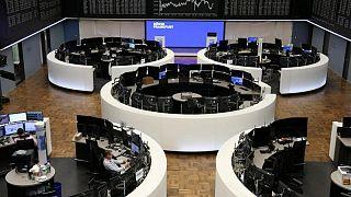 World shares steady, U.S. yields hover near lows ahead of fresh data
