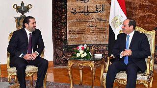 السيسي يستقبل الحريري ويؤكد على دعم مصر الكامل لمساره السياسي