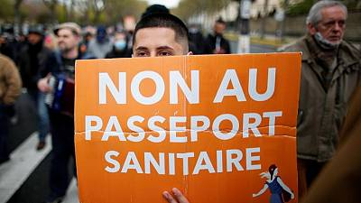 French police quell protest against COVID health passport rules
