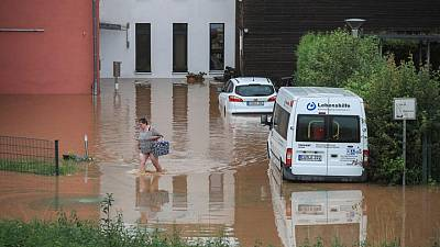 Six dead, 30 missing in Germany as houses collapse in floods