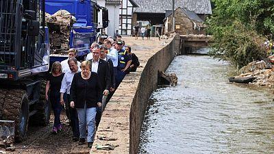 Merkel heads to flood zone facing questions over preparedness