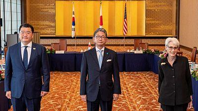 U.S., Japan, South Korea sends clear message to N.Korea - U.S. diplomat