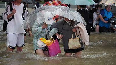 Una provincia de China sufre las lluvias más intensas en 1.000 años